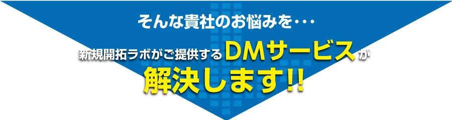 DMサービスが解決します!!